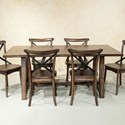 Intercon Lindsay Trestle Table - Item Number: LN-TA-4072-WAL-C