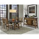 Intercon Lucca Trestle Table with Stone Top