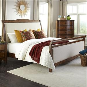 Intercon Luciano Queen Upholstered Bed