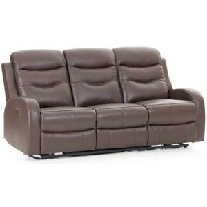 Contemporary Power Reclining Sofa with USB Port
