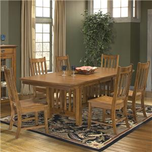 Intercon Mission Leopold 7-Piece Trestle Table & Chair Set