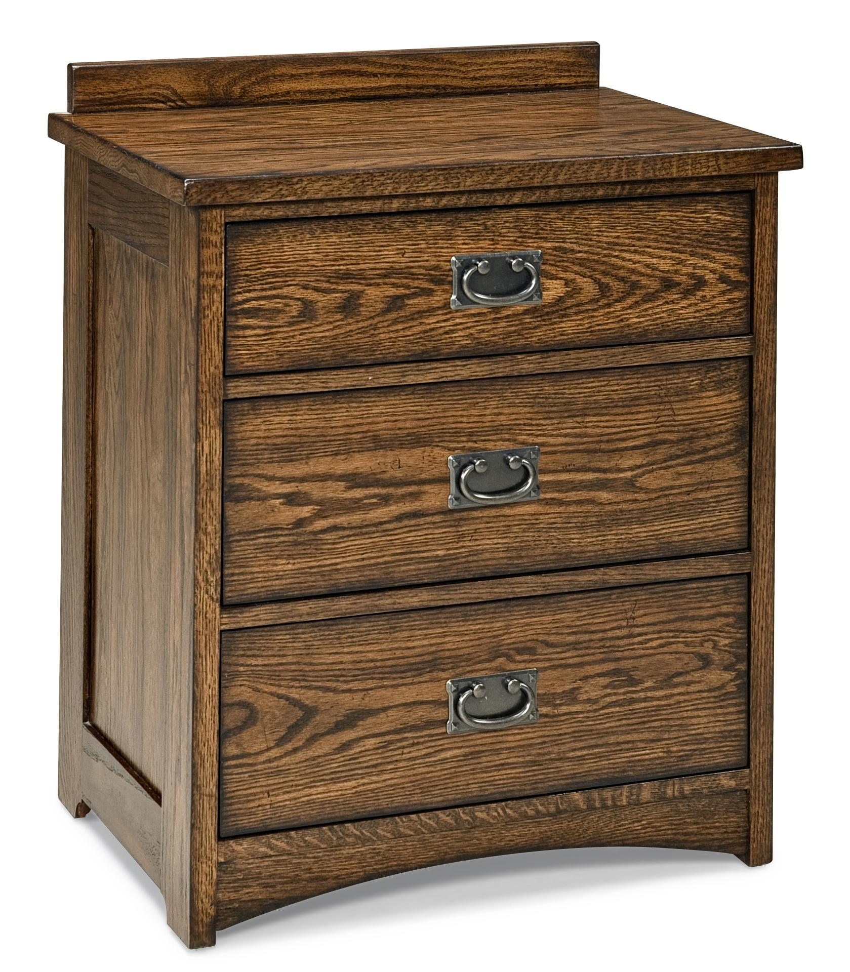 Intercon Oak Park Solid Oak 3-Drawer Nightstand - Item Number: OP-BR-5803-MIS-C