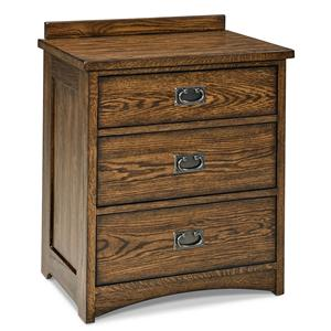 Intercon Oak Park Solid Oak 3-Drawer Nightstand