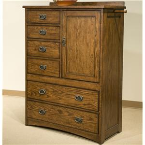 Intercon Oak Park Solid Oak 6-Drawer Door Chest