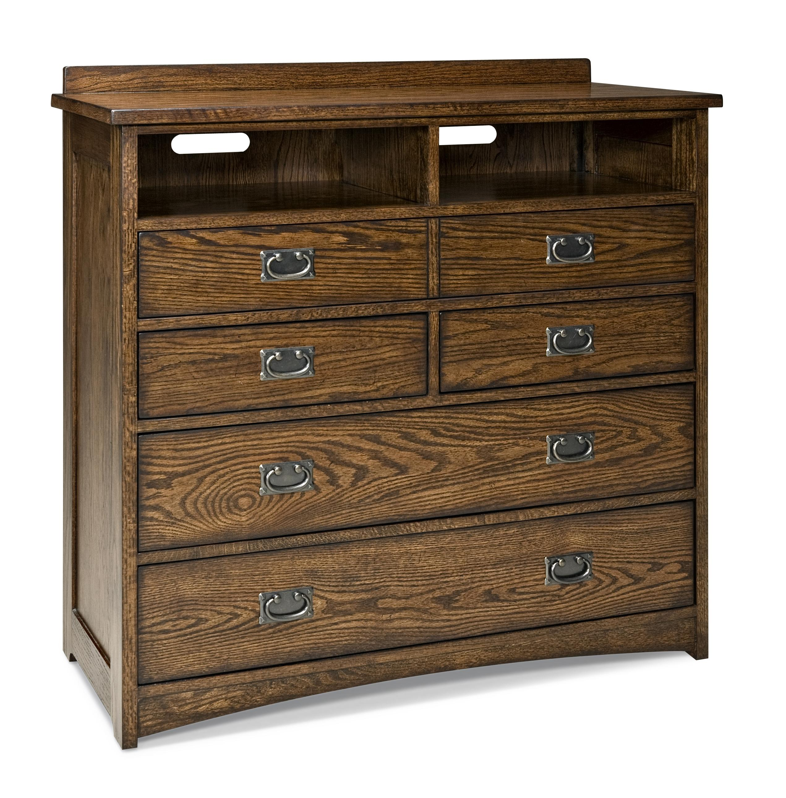 Intercon Oak Park 5-Drawer Chest - Item Number: OP-BR-5806MC-MIS-C