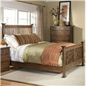 Intercon Oak Park Complete King Bed - Item Number: OP-BR-5825K-MIS-C