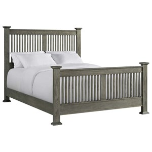Mission King Panel Bed with Slat Headboard and Footboard