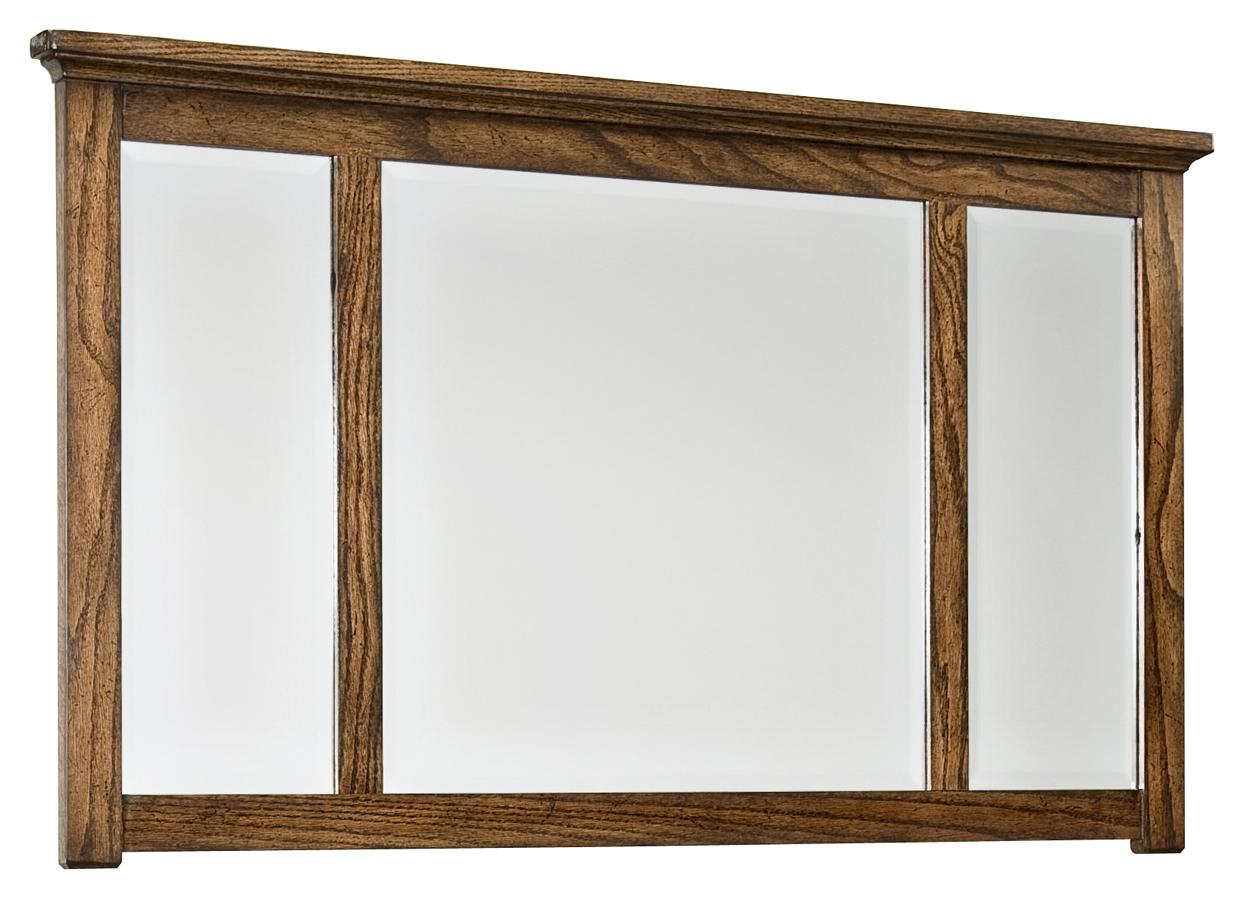 Intercon Oak Park Landscape Dresser Mirror - Item Number: OP-BR-5891-MIS-C