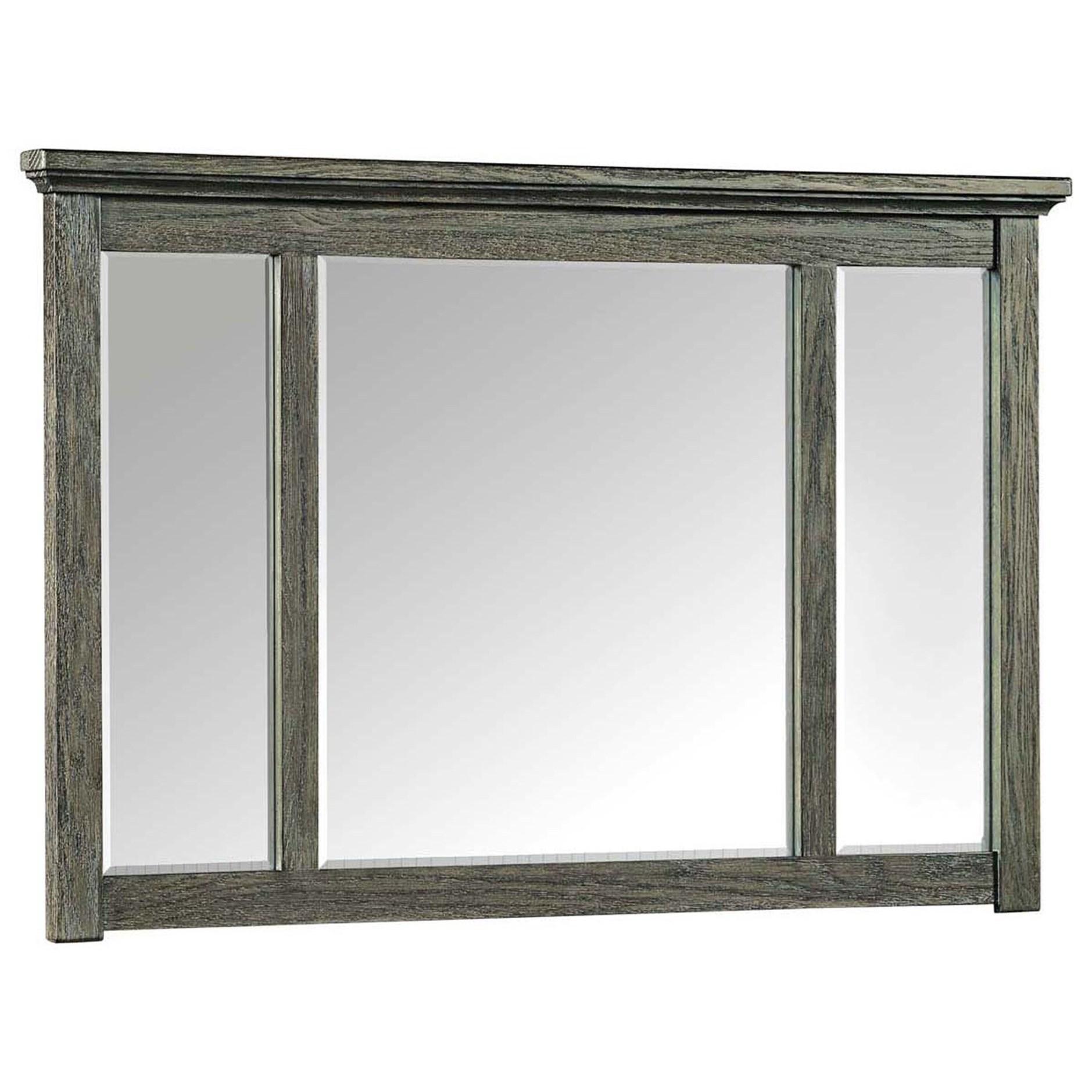 Oak Park Pewter Dresser Mirror by Intercon at Dinette Depot