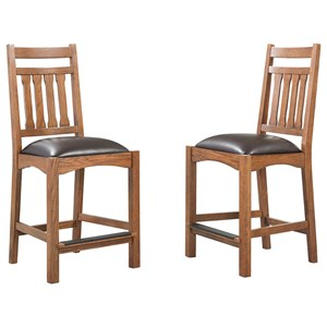 Intercon Oak Park Slatback Barstool