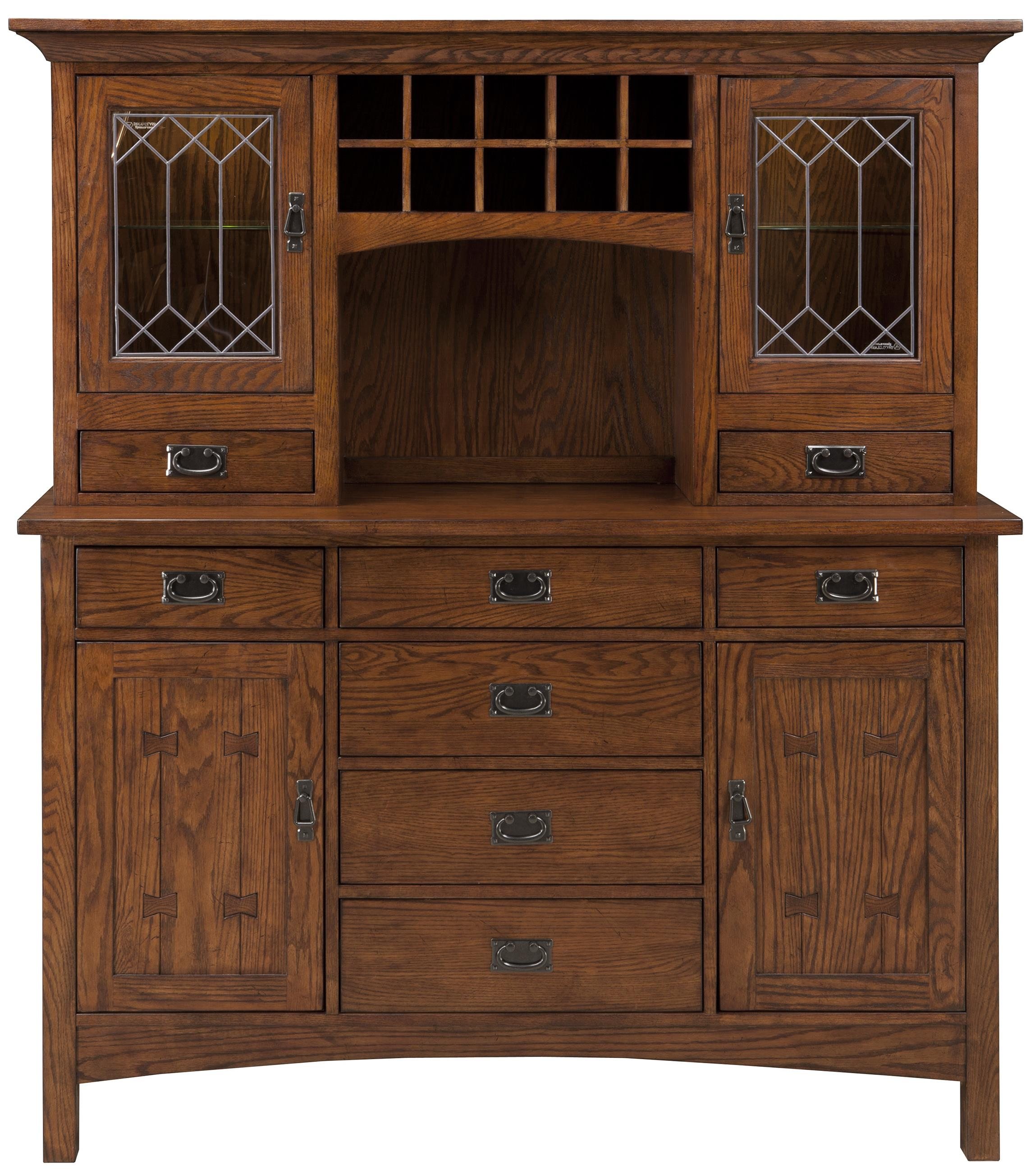Intercon Oak Park China Cabinet - Item Number: OP-CA-6039-MIS-C+6030-MIS-TOP