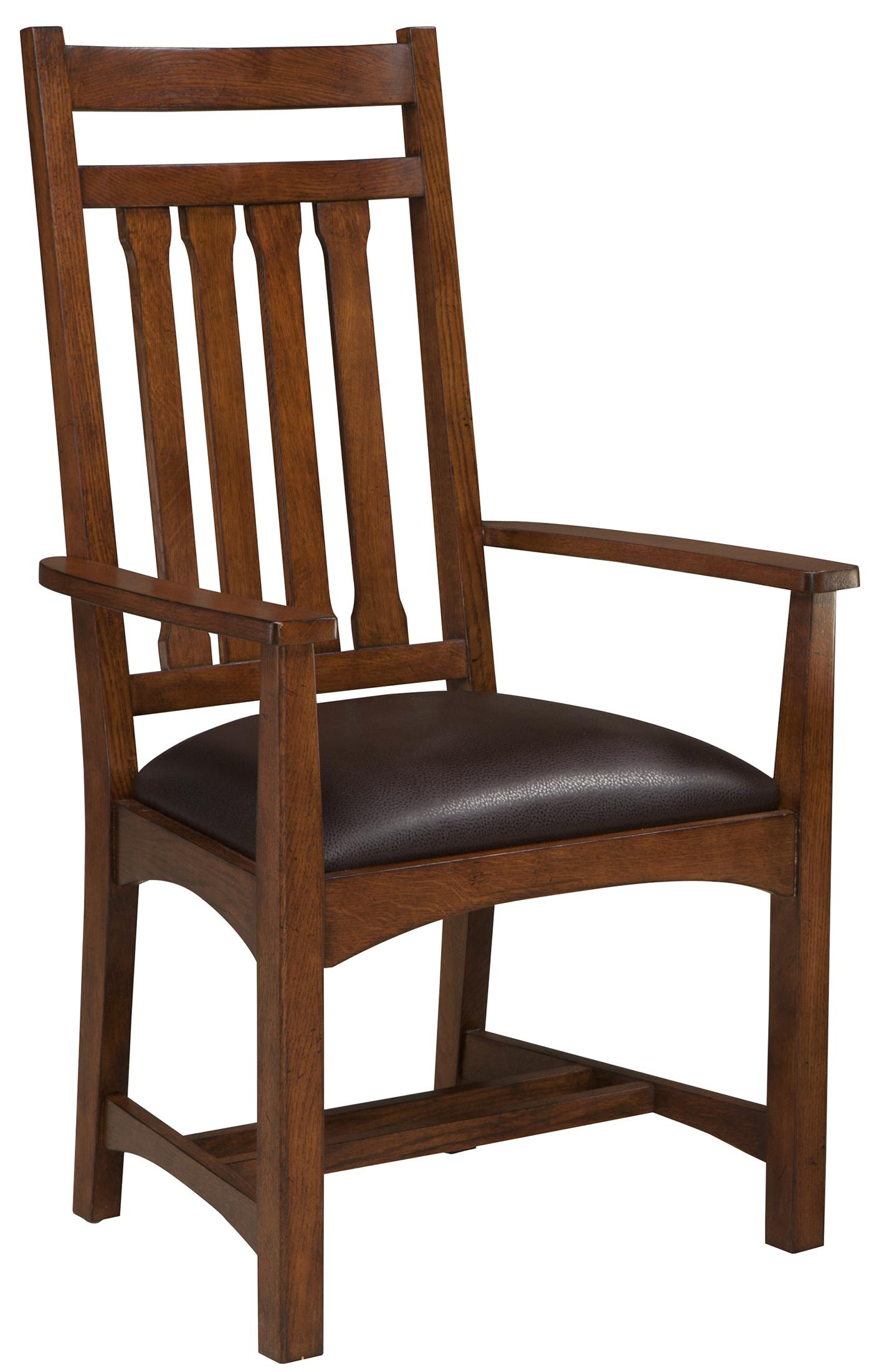 Intercon Oak Park Dining Arm Chair - Item Number: OP-CH-925CA-MIS-RTA