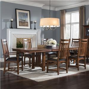 Intercon Oak Park 7 Piece Dining Set