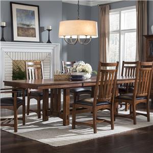 Intercon Oak Park Trestle Table