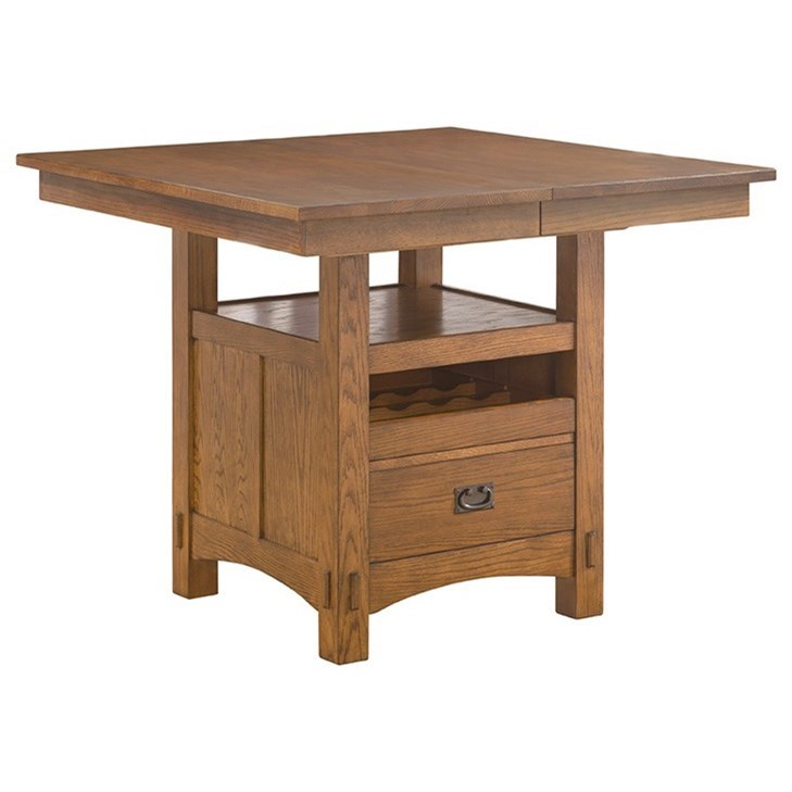 Intercon Oak Park Gathering Height Island Table - Item Number: OP-TA-4866G-MIS-C