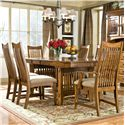 Intercon Pasadena Revival  7 Piece Table & Chair Set - Item Number: 42106-BES+TOP+2x1050CA+4x1050C