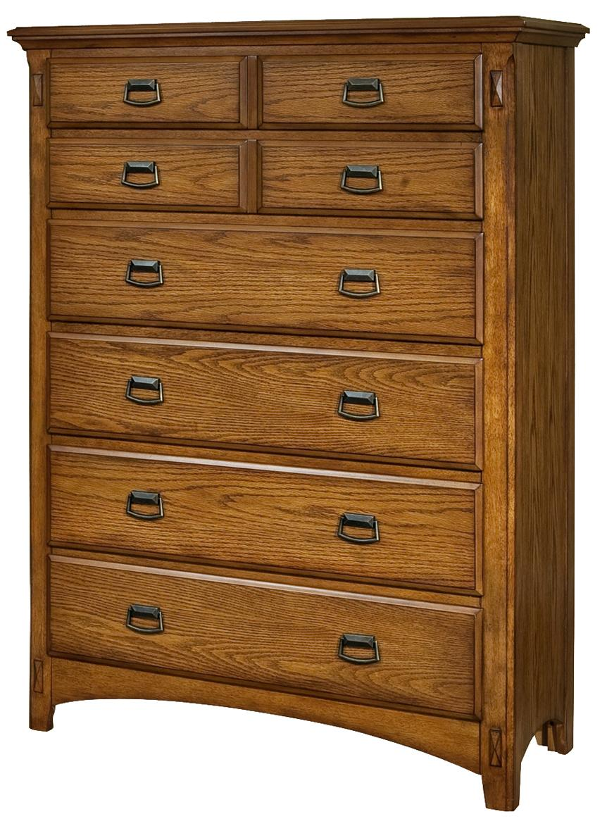 Intercon Pasadena Revival  Chest - Item Number: PR-BR-5406-MBN-C