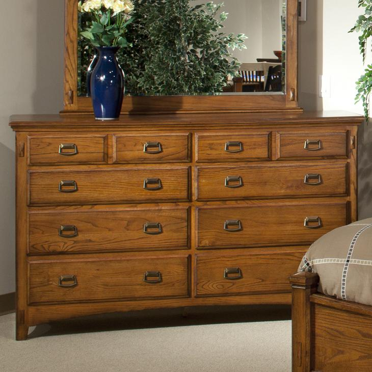 Intercon Pasadena Revival  Dresser - Item Number: PR-BR-5408-MBN-C