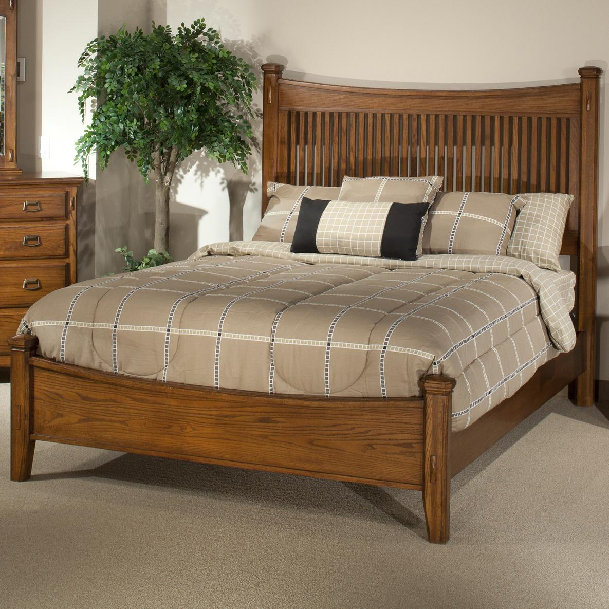Intercon Pasadena Revival  Queen Bed - Item Number: PR-BR-5450Q-MBN- FB+HB+RS