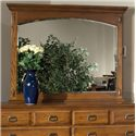 Intercon Pasadena Revival  Beveled Landscape Mirror with Wood Frame