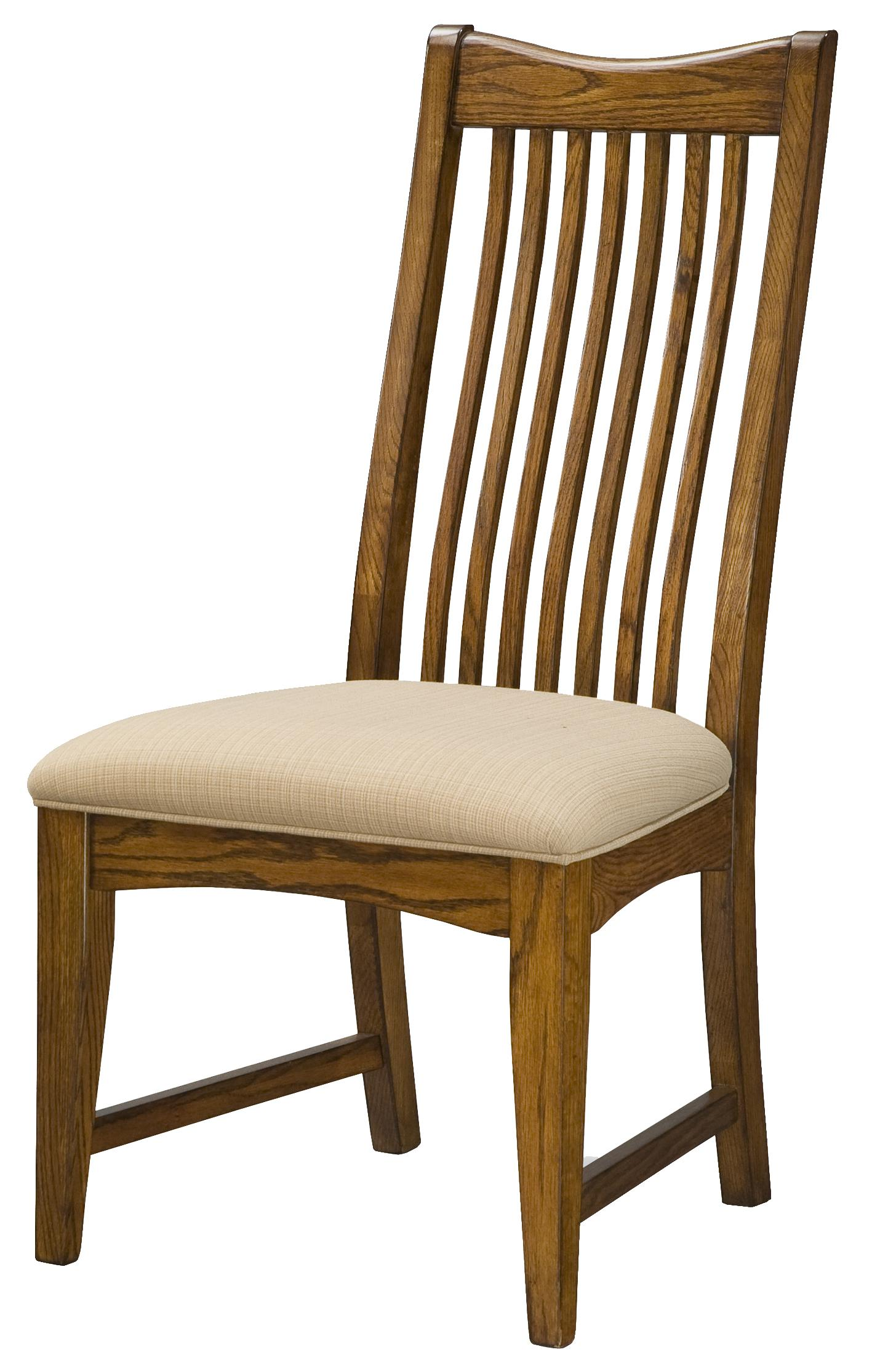Intercon Pasadena Revival  Slat Back Side Chair - Item Number: PR-CH-1050C-MBN-RTA