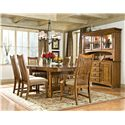 Intercon Pasadena Revival  Slat Back Side Chair with Cushion Seat