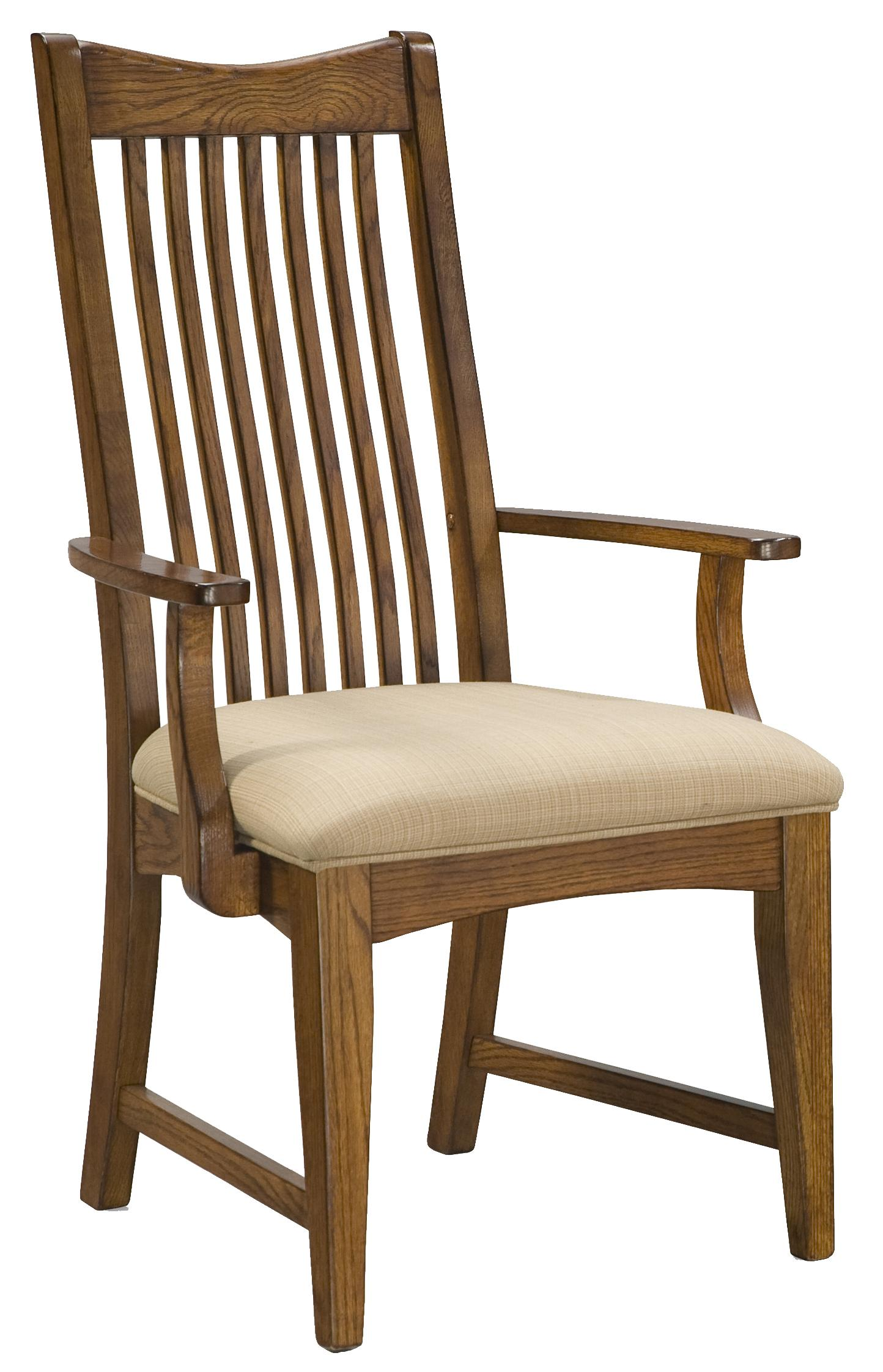 Intercon Pasadena Revival Slat Back Arm Chair With Cushion Seat Wayside Furniture Dining Arm