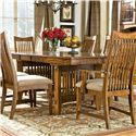 Intercon Pasadena Revival  Trestle Dining Table - Item Number: PR-TA-42106-MBN-BSE+TOP