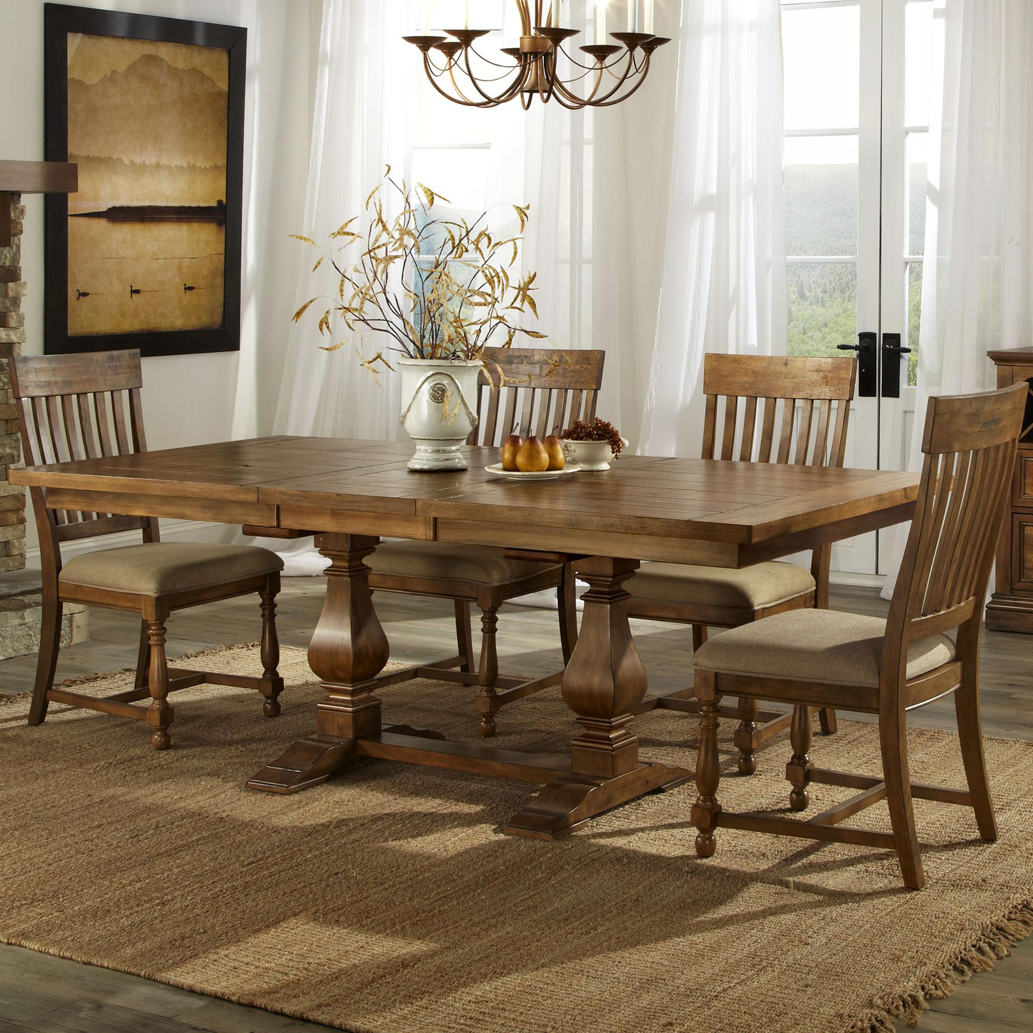 Belfort Select Loudoun Crossing Dining Table and Chair Set - Item Number: R-T-44-BL-BE+B-TP+4xR-CH-50C-BL-RA