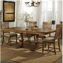 Belfort Select Loudoun Crossing Dining Table and Chair Set with 4 Slat Back Chairs