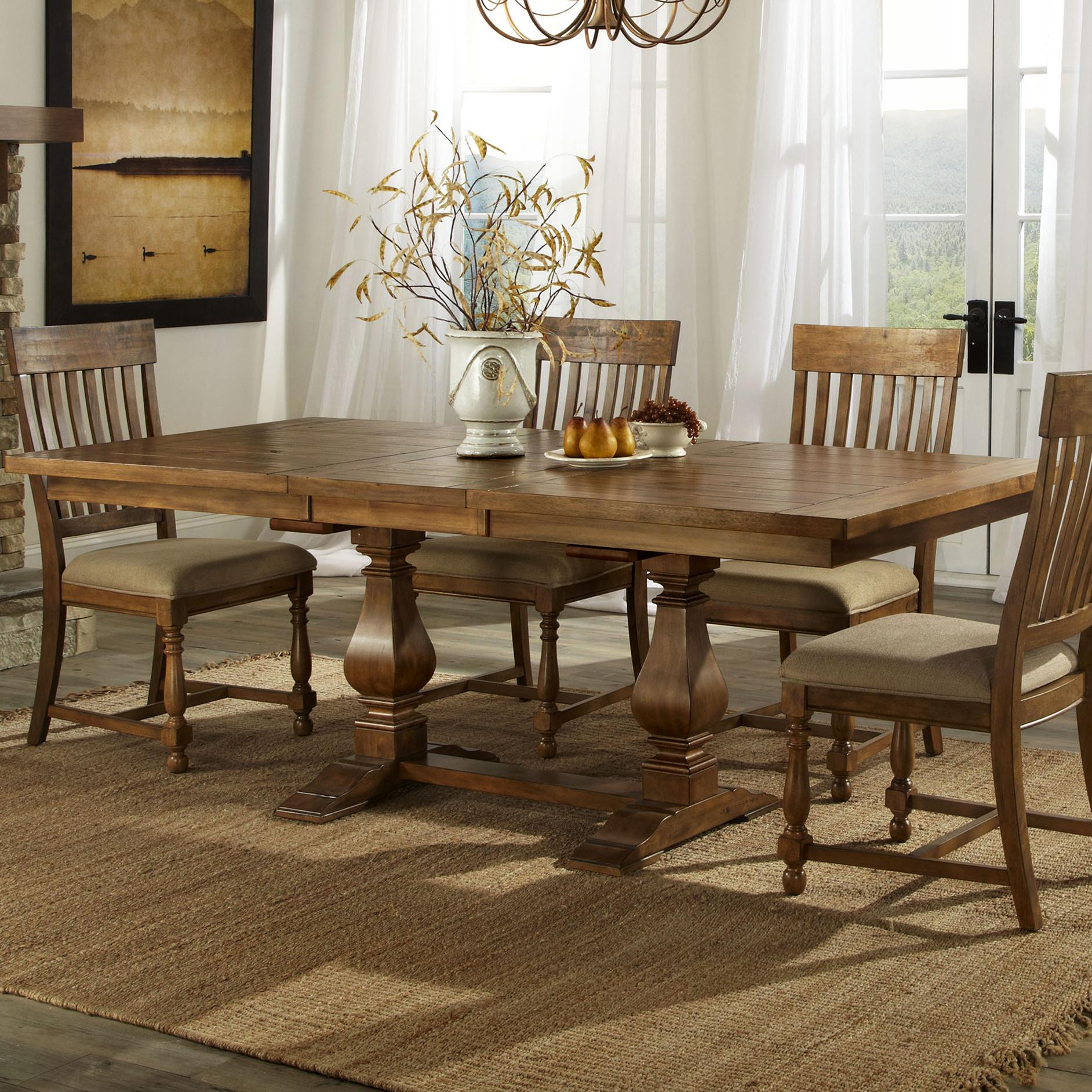 Belfort Select Loudoun Crossing Trestle Dining Table - Item Number: RH-TA-4084-BAL-BSE+R-T-4084-BAL-TOP