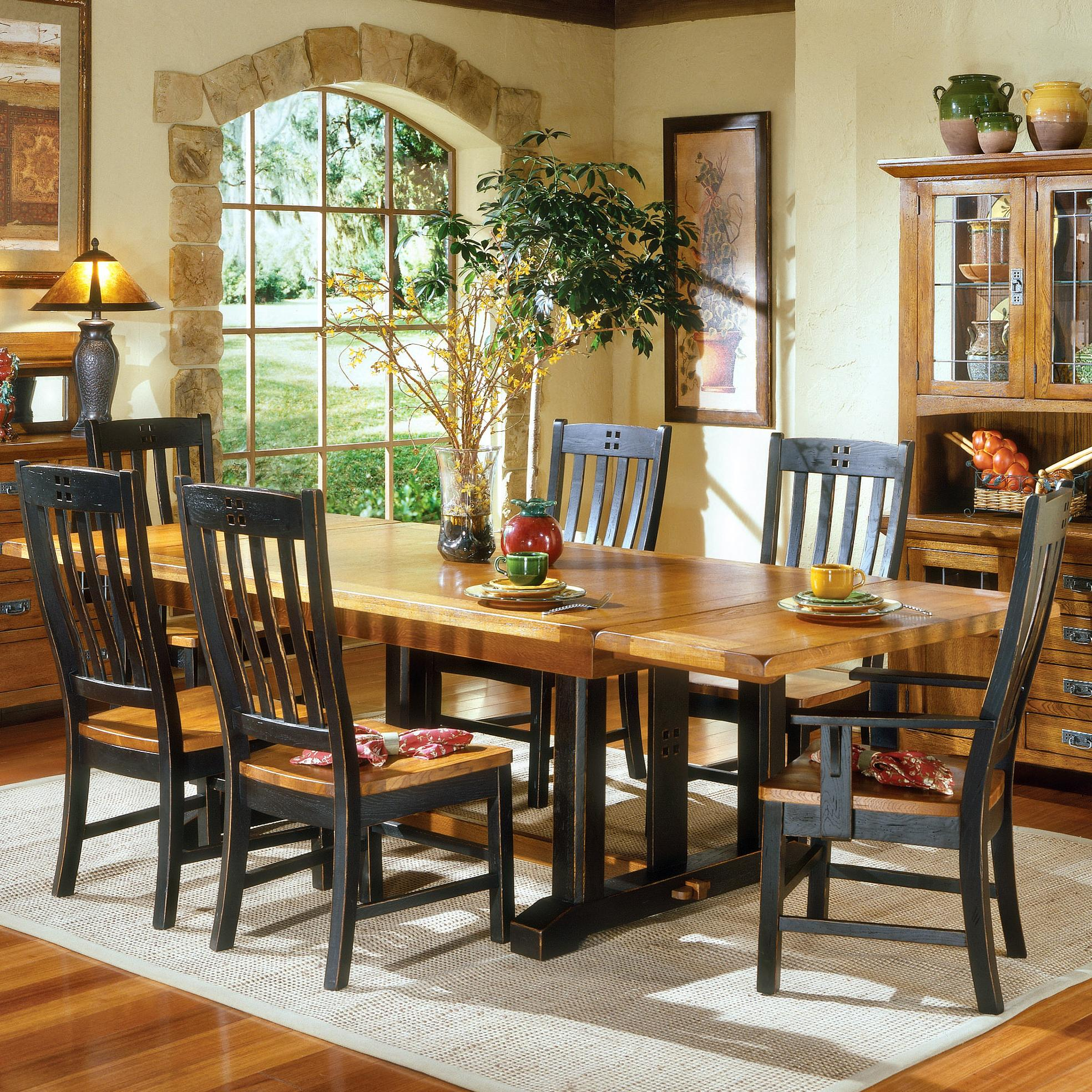 Mission Dining Room Intercon Rustic Mission Refectory Dining Table Hudson S