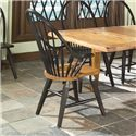Intercon Rustic Traditions Rustic Windsor Arm Chair - Item Number: 1480A-BLR