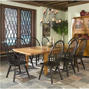 Intercon Rustic Traditions Table w/4 Tapered Legs & Chair Set