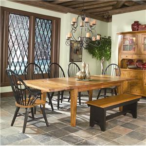 Intercon Rustic Traditions Tapered Leg Table & Chair Set