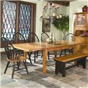 Intercon Rustic Traditions Table with 4 Tapered Legs - Item Number: 44108S-RUS-C