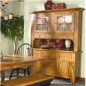Intercon Rustic Traditions Dining China Cabinet - Item Number: 6248-RUS-TOP+6035