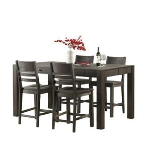 Intercon Salem 5 Piece Gathering Height Table and Stool Set
