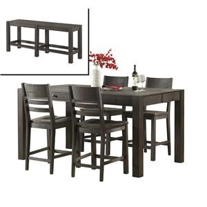 Intercon Salem 6 Piece Gathering Height Table and Stool Set