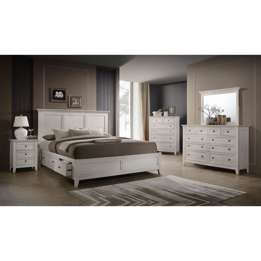 Bedroom Furniture Stores San Francisco: VFM Signature San Mateo Transitional Queen Storage Bed