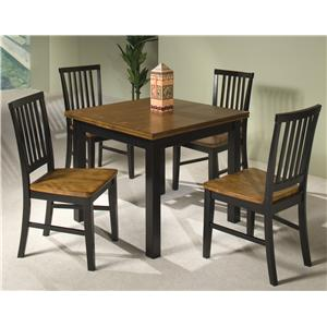 Intercon Siena 5-Piece Refectory Table & Side Chair Set