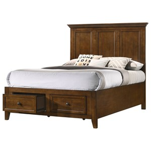 Youth Full Storage Panel Bed