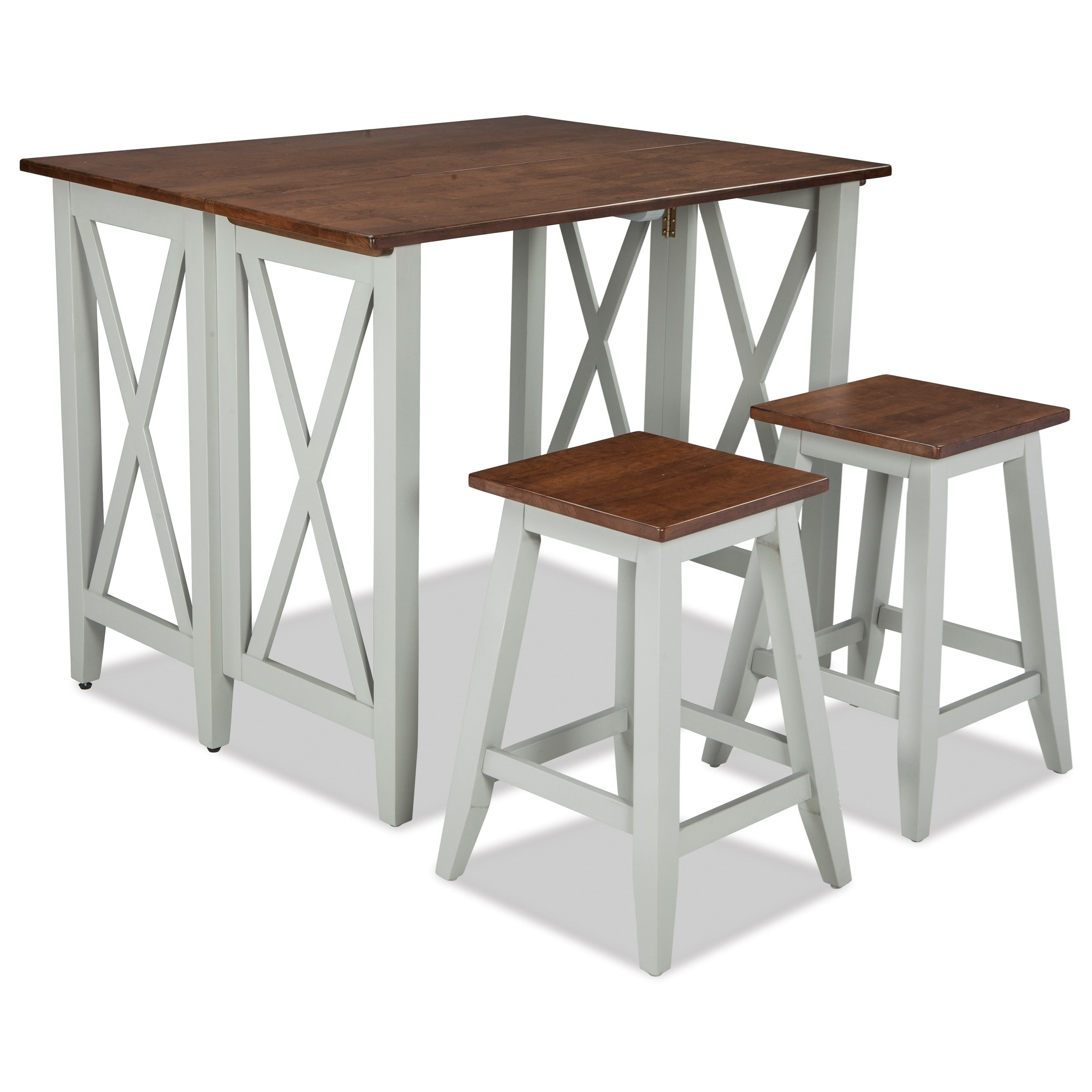 Intercon Small Space 3 Piece Drop Leaf Breakfast Bar And