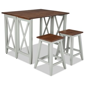 Intercon Small Space 3 Piece Bar and Stool Set