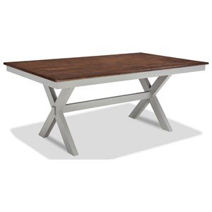 Intercon Small Space Trestle Dining Table