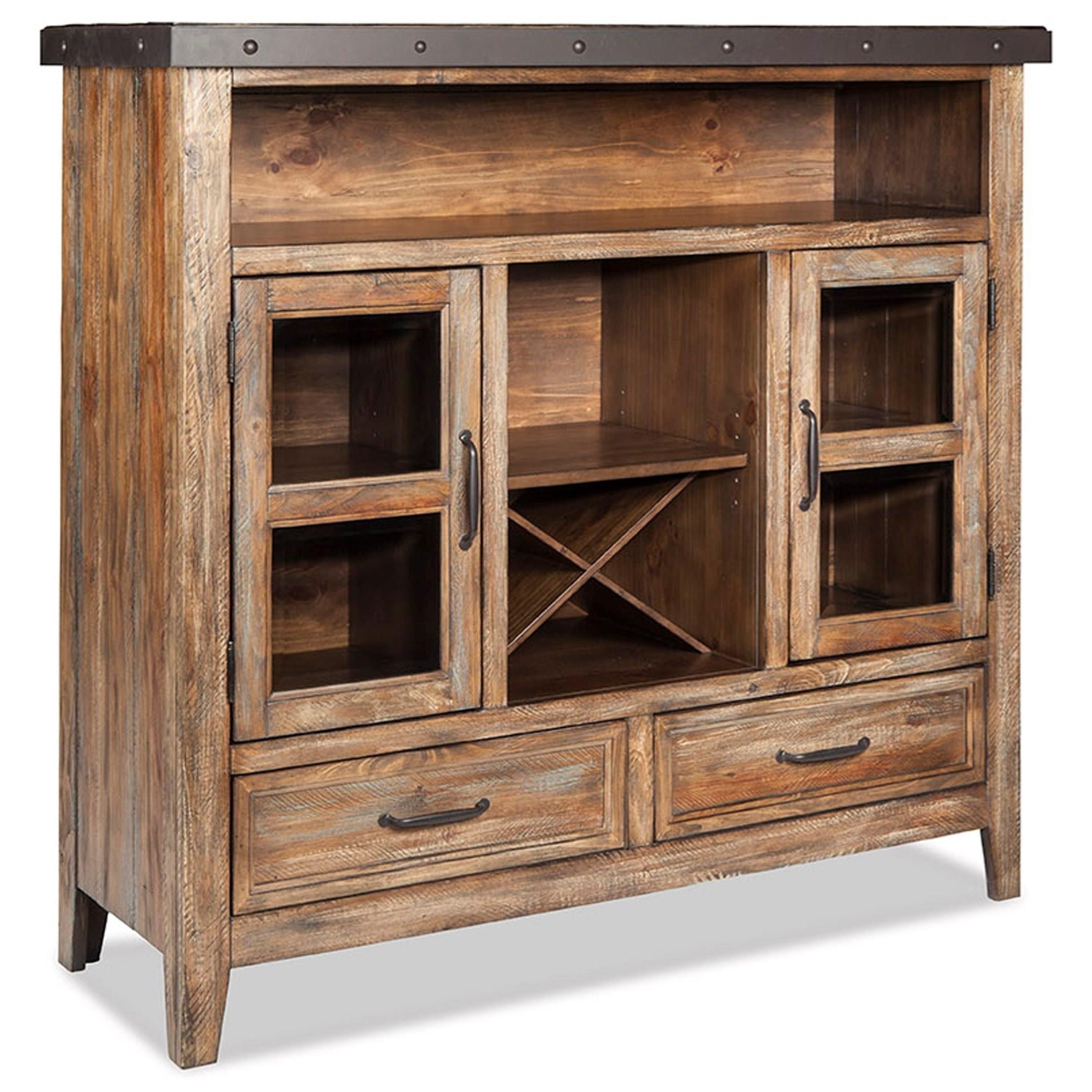 Home Furniture Distribution Center: Intercon Taos Rustic Buffet With Removable Bottle Storage