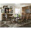Intercon Taos 5 Piece Table Set - Item Number: TS-TA-4299+TS-CH-489X4