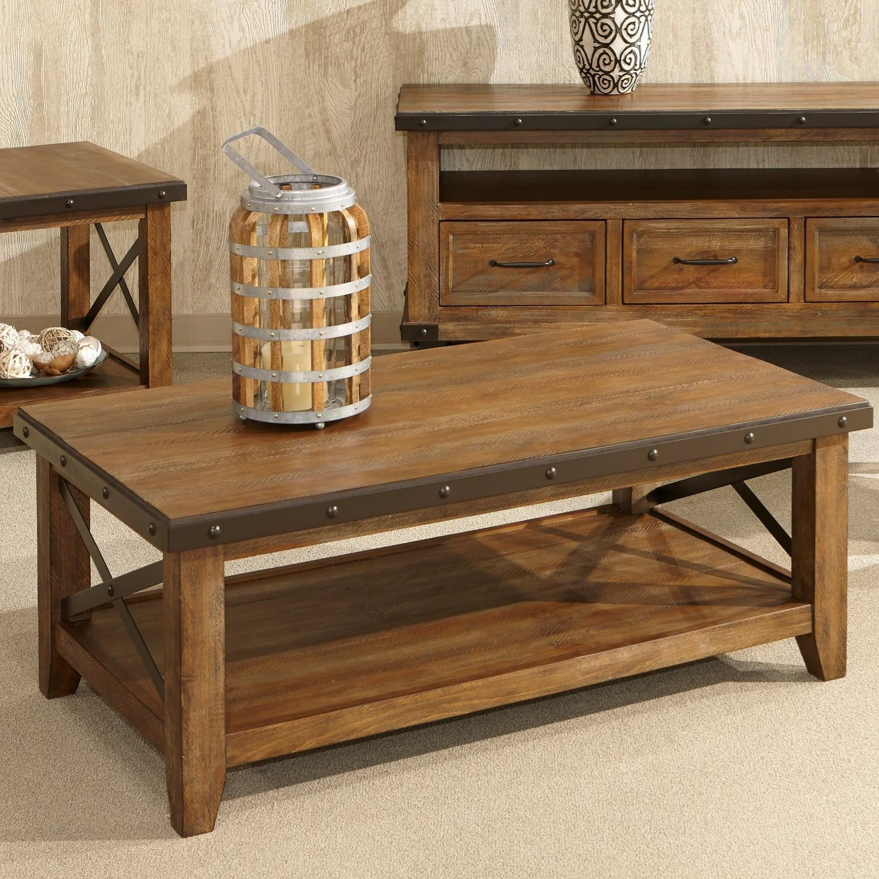 Home Furniture Distribution Center: Intercon Taos Rustic Coffee Table With Metal Accents