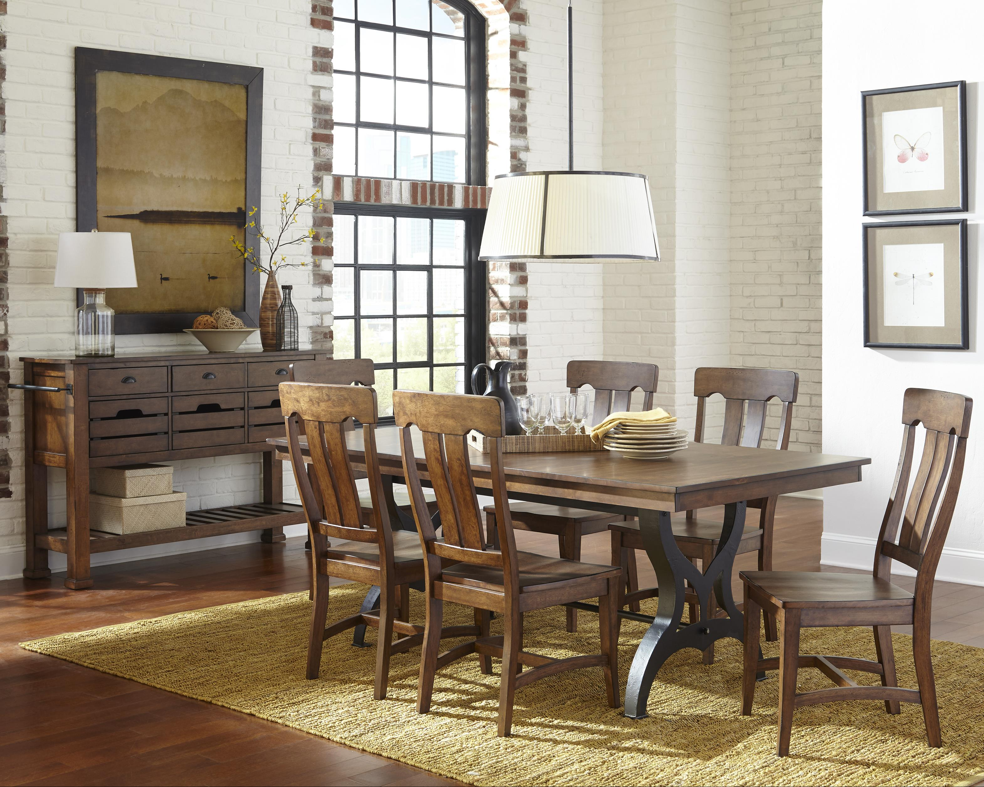 Wayside Dining Room Furniture: Intercon The District Formal Dining Room Group