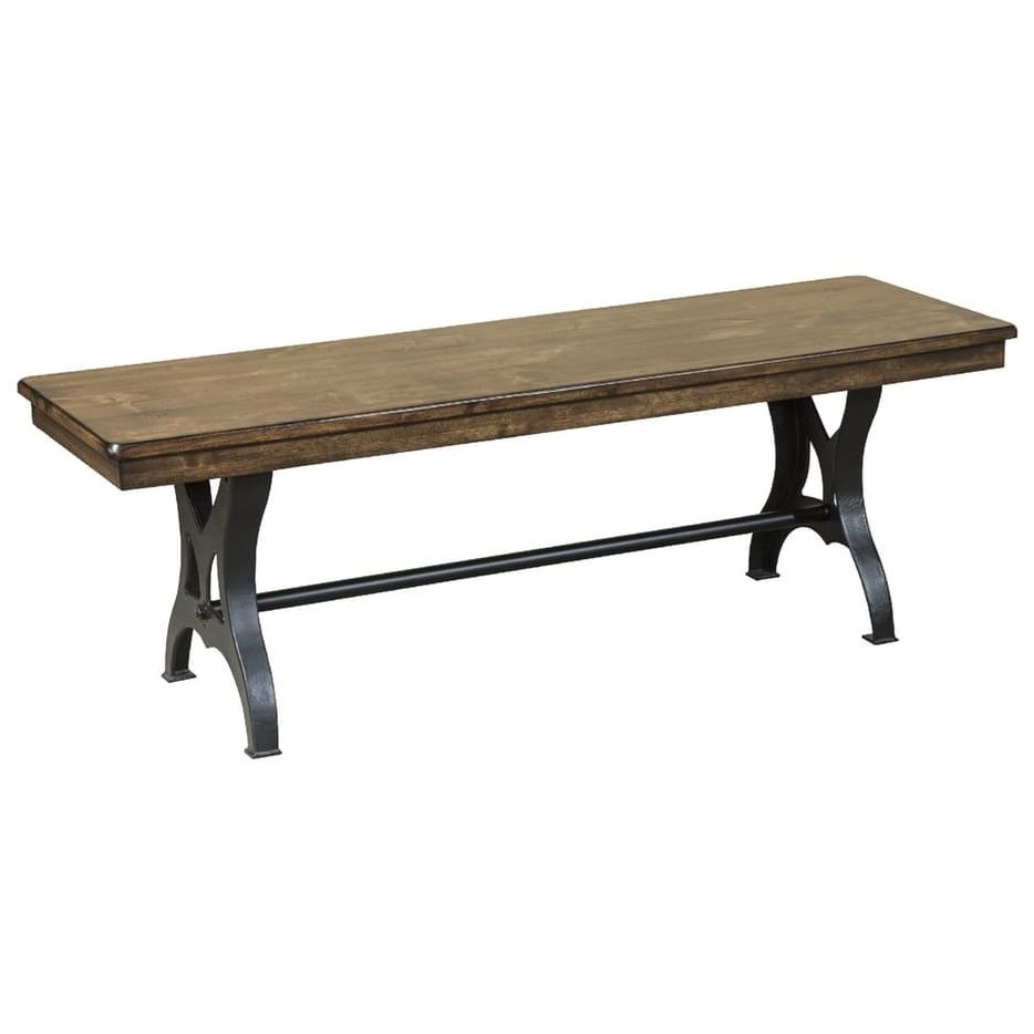 Intercon The District 54 Quot Backless Wood And Metal Industrial Dining Bench Wayside Furniture
